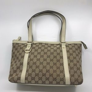 GUCCI Signature Canvas Tote